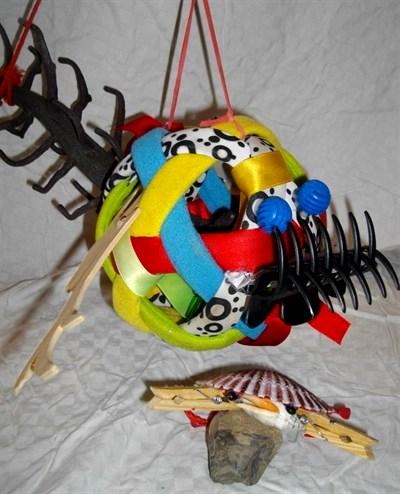 fish and crab puppets wrksp